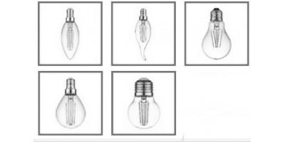 Поступление новой линейки светодиодных нитевидных прозрачных ламп С35, CW35, G45 и A60