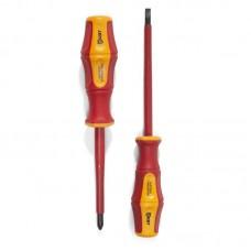 4.0х100 Диэлектрическая отвертка шлиц для работ под напряжением до 1000 В