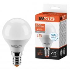 Светодиодная лампа WOLTA 25S45GL5E14 5Вт 4000K E14