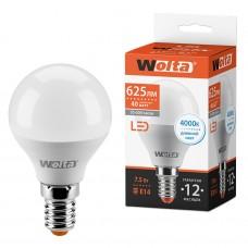Светодиодная лампа WOLTA 25S45GL7.5E14 7.5Вт 4000K E14