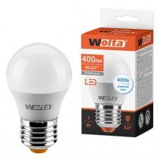 Светодиодная лампа WOLTA 25S45GL5E27 5Вт 4000K E27