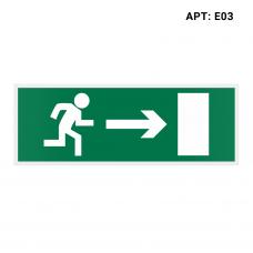 Знак безопасности (пиктограмма) Е03